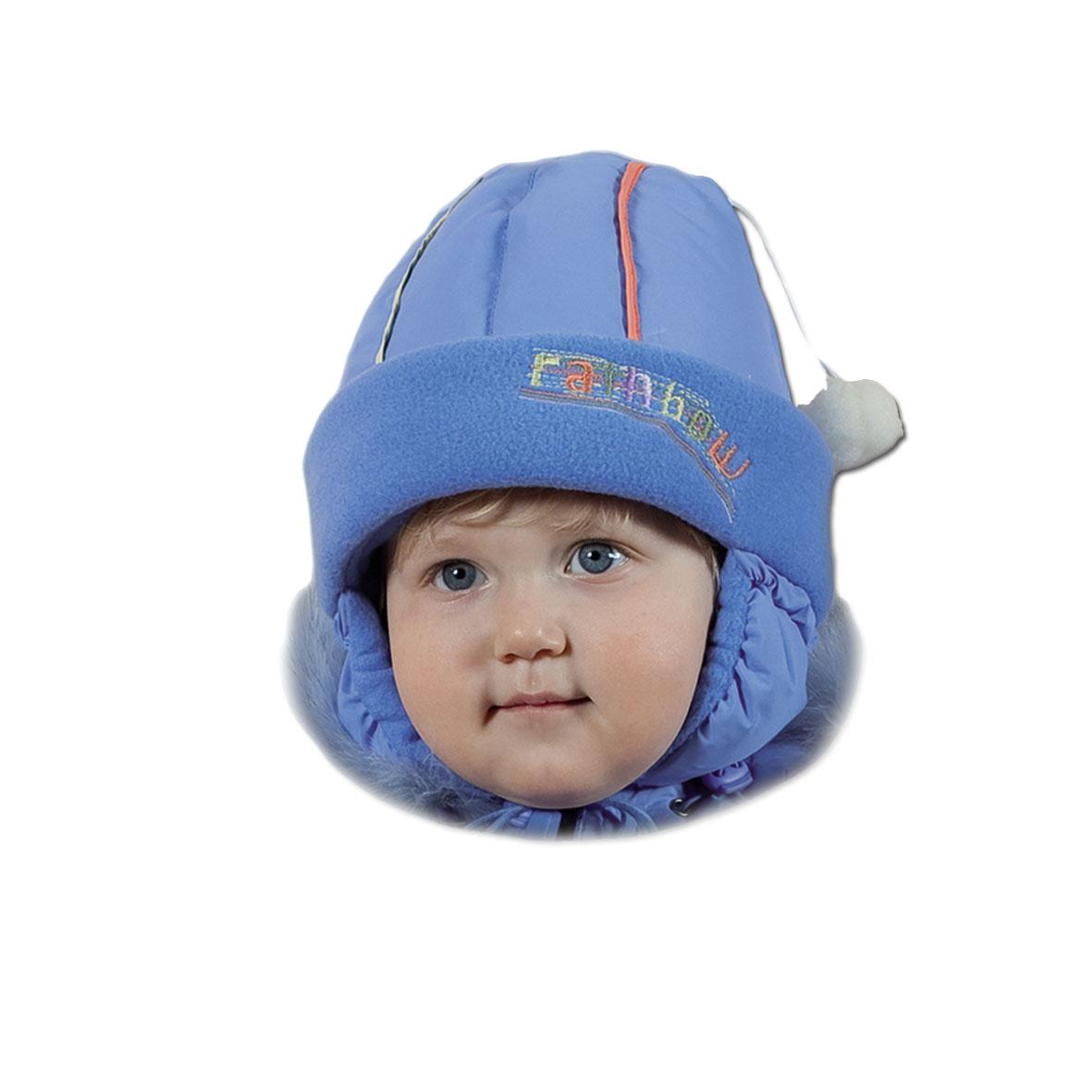 шапка с меховым помпоном | Шапки детские с