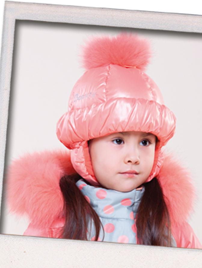Детские шапки с помпоном гу 089